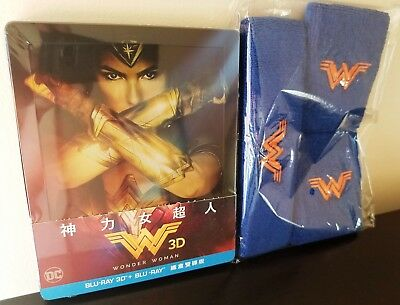 WONDER WOMAN Blu-ray 3D + 2D Taiwan Limited Edition Exclusive STEELBOOK + BONUS