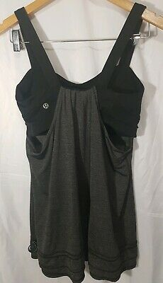 d5d537558557ae WOMENS LULULEMON POWER Y Tank Top Size 8 Heathered Gray Racer Back ...