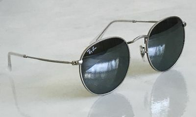 6462f743129ad New RAY BAN Round Sunglasses RB3447 019 30 Silver Mirrored Lens Authentic