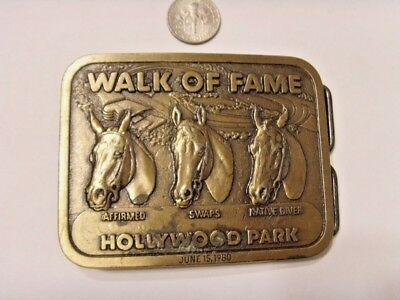 1980 vintage belt buckle walk of fame american Hollywood famous horses ats 46165