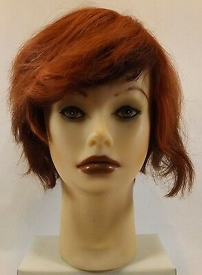 Clic Tiffany Mannequin Head with Cut & Reddish Brown Colored Hair Store Display
