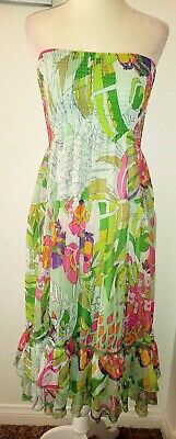 2207b60dfe2 Lapis Women s Casual Multi-Color Floral Strapless Knee Length Dress Size  Small