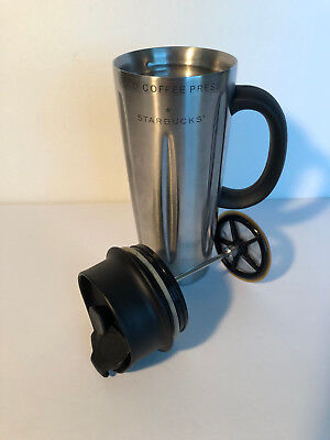 62dbc6211e8 Starbucks 2003 Stainless Steel 16 oz. Solo Coffee Press Barista Travel Mug