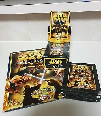 Star Wars Revenge Of The Sith Sticker Collection Book Plus 92Packs Of Stickers.