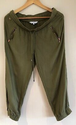 Maternity 10 crop jogger pants Dannii Minogue for Target olive green below the b