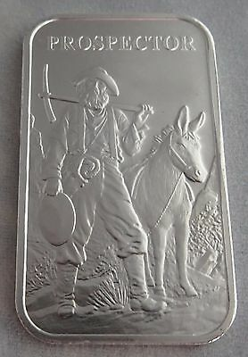 Prospector and Donkey Collectible 1 Oz.999 Fine Silver Art Bars Uncirculated BU.