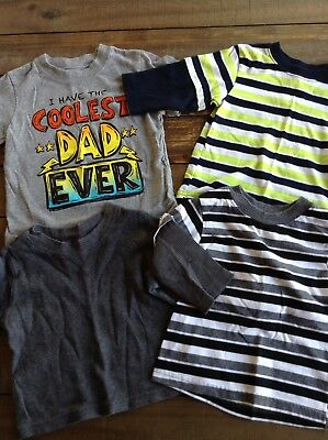 """Baby Boy 12 Month Lot Of Shirts Garanimals Circo """"i Have The Coolest Dad"""""""