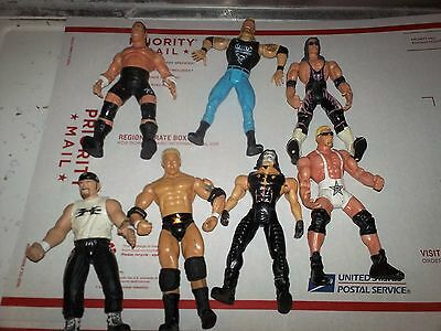 Lot of WCW WWE WWF Wrestling Figures NXT ROH TNA ECW NWA NJPW NFL Bears