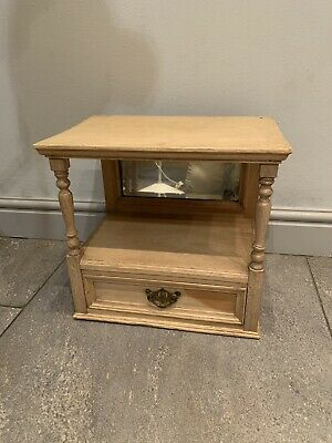 Unusual Antique Bleached Pine  Dressing Table Mirror