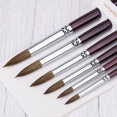 Artist Paint Brush Set 6 Pcs Sable Watercolour Brushes for Watercolor,...