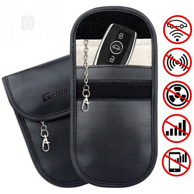Gritin Car Key Signal Blocker Pouch, [2-Pack] Keyless RFID Blocking Case -...