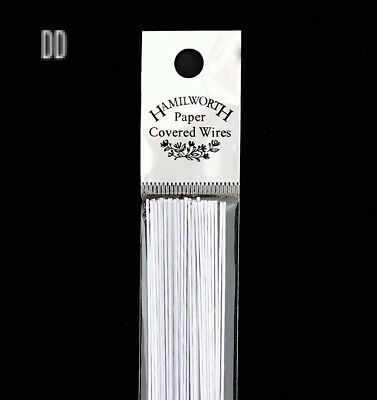Hamilworth - Paper Covered Wires - White 22 Gauge - 25 Per Pack - For...
