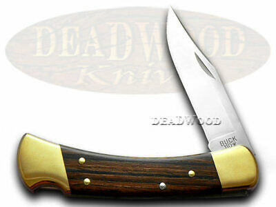 BUCK 110 Folding Hunter Wooden Pocket Knife Knives