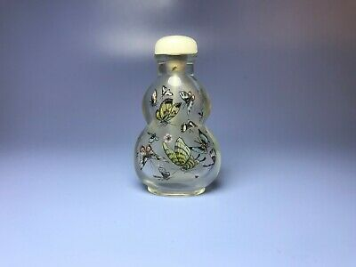 Chinese antique  carved glass snuff bottle-3105