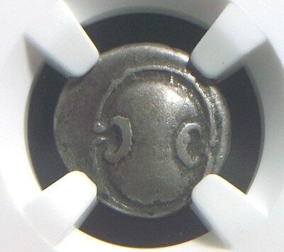 Authentic Greek Silver Hemidrachm from Boeotia, 4th Century BC NGC VF 8002