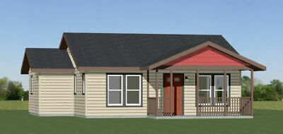 32X28 HOUSE -- 1 Bedroom 1 Bath -- 824 sq ft -- PDF Floor Plan -- Model 1