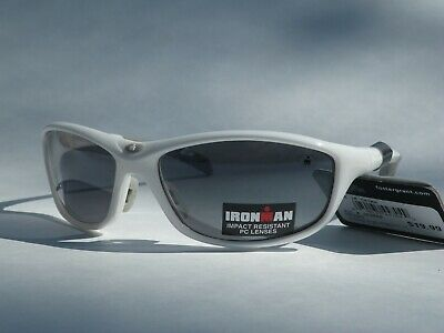 a0ae84bf44 Mens Ironman Sunglasses Foster Grant Sport Wrap White Gray Frame  Perseverance