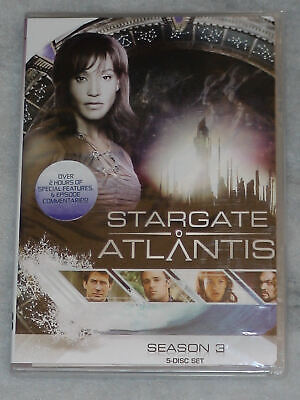 Stargate Atlantis Season 3 Three Complete DVD Box Set - BRAND NEW & SEALED