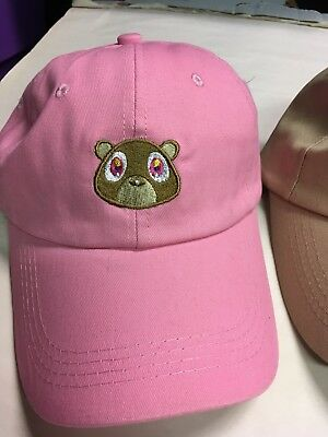 2e623eacbee4a KANYE WEST BEAR Hat Cap Dad Yeezus Yeezy Graduation Dropout Tan Pink ...