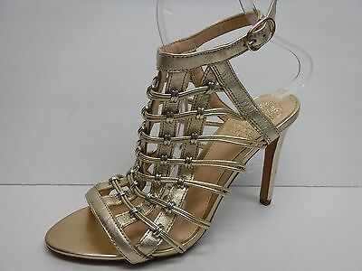 6a61196fc82d NEW WOMENS VINCE CAMUTO TAN SAMMSON LEATHER SANDALS MID HEELS ...