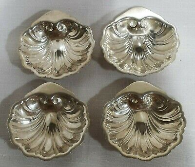 Silverplate Shell Motif Dish, Ashtray, Butter Pat, Set Of 4