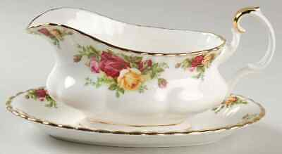 Royal Albert OLD COUNTRY ROSES Gravy Boat & Underplate 618590