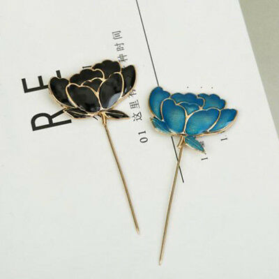 Alloy Lotus Flower Lapel Pin Brooch for Women Suits Collar Buckle Pins Brooches