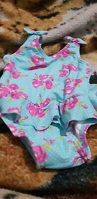 Lovely Girls tu Swimming Costume with nappy Age 9-12 Months