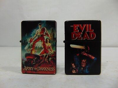 Lot Zippo Lighter Army of Darkness Evil Dead Bruce Campbell Lot of 2