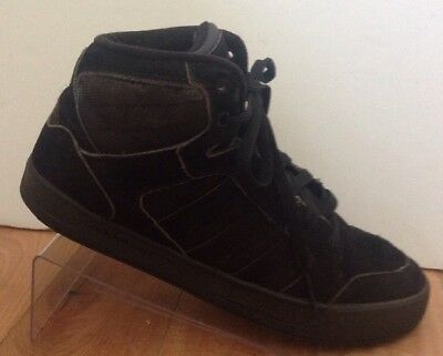a70078f86e29 Adidas Neo Raleigh Mid Shoes Black Mens Sz 7.5 Lace Up Basketball Sneakers