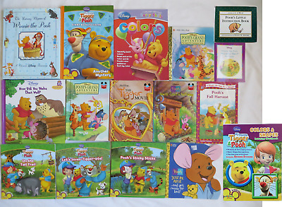 16 Lot Winnie The Pooh Coloring Activity Reader Picture Books Tigger Piglet Roo