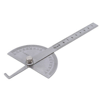 Stainless Steel 180 degree Protractor Round Head Angle Finder Measuring Tool LD