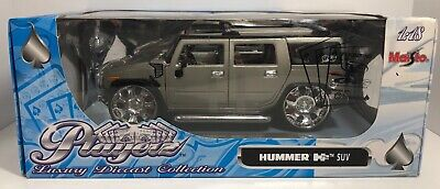 Maisto Playerz Hummer H2 Suv Grey 1:18 Scale Die Cast! Free Shipping