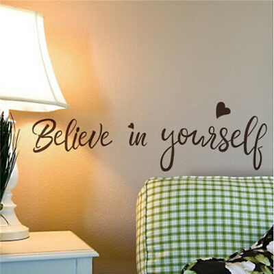 Wall Art Inspirational Quotes Sayings Decal Sticker Home Office Room DIY Decor D