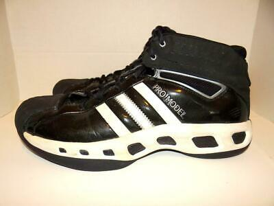 new arrival b0837 5e41c Adidas Pro Model Men s Black White Basketball Shoes Sneakers - Size 11.5