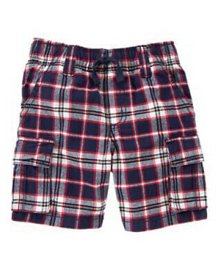 NWT Gymboree Boy ALL-STAR CHAMP Navy and Red Plaid Shorts  Size 2T