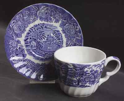 Wood & Sons ENGLISH SCENERY BLUE Cup Saucer 4077079