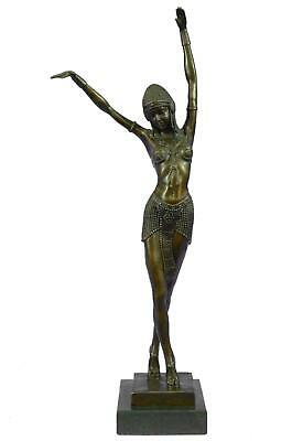 "EGYPTIAN DANCER Art Deco Bronze Sculpture by Demétre Chiparus 19"" x 8"""