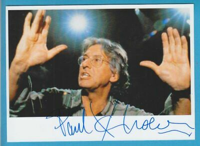 PAUL VERHOEVEN  original in person signed glossy PHOTO 5x7 inch Autograph