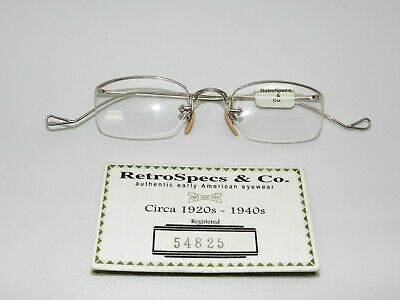 Vintage Retro White Gold Eyeglass Retrospecs Circa 1938 American Optical RARE!