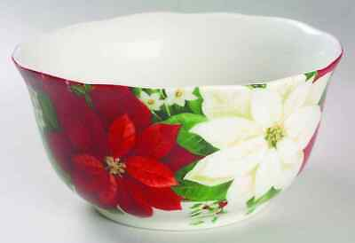 222 Fifth PLAID POINSETTIA Soup Cereal Bowl 6451204