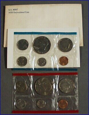 1978 P & D US MINT UNCIRCULATED 6-COIN SETS SEALED with EISENHOWER DOLLAR