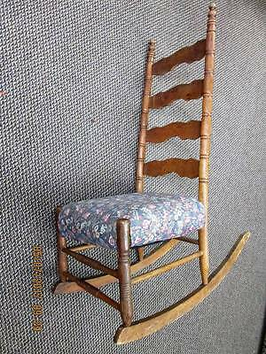 Antique Ladder Back Rocking Chair Circa 1830's Anchorage Pick-up Only