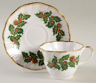 Rosina Queens YULETIDE (SCALLOPED) Cotswold Cup & Saucer 5450594