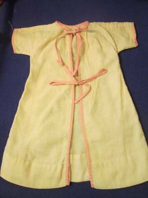 """Vintage Doll Clothes ~ Flour Sack Off-White Gown Pink trim for 16-18"""" doll  #2"""