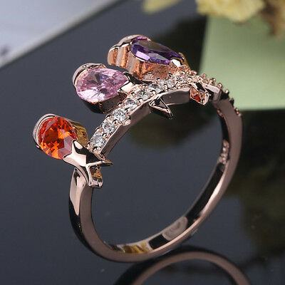Bird Design Ring for Female Wedding Party Fashion Accessories Jewelry Gift LD
