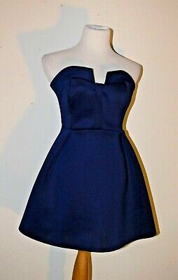 098ba4b6991a4 WINDSOR NAVY BLUE Full Skirt Formal Dress Homecoming Prom Cocktail ...