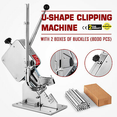 U-shape Sausage Clipping Clipper Machine 8000Pcs Clips Sausage Easy Packing