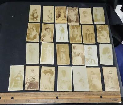 Cigarette 1890s Actresses Collection 24 Photo Cards Sweet Caporal N245 !