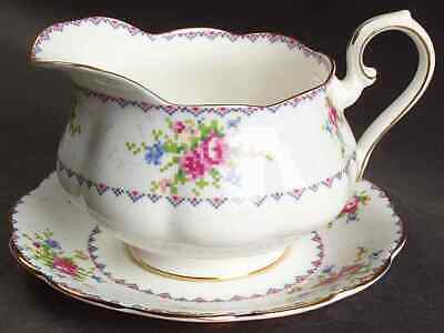 Royal Albert PETIT POINT Gravy Boat & Underplate 6583443